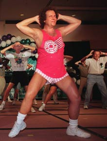 Richard Simmons Posing